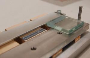 Holz-Glas-Laminat:  Testkörperherstellung