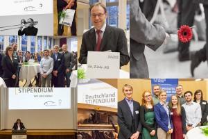impressionen der Feier mit den Deutschlandstipendiatinnen und -stipendiaten. Fotos: Ulrich van Stipriaan