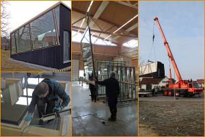 Die interdisziplinäre und branchenübergreifende Kooperation ergründete dabei neue Nutzungspotenziale für den nachwachsenden Baustoff Holz, die sich aus der lastabtragenden Verklebung mit Glas ergeben. Fotos: Felix Nicklisch