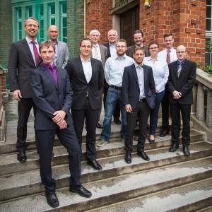Jury und Nominierte für den Züblin-Stahlbau-Preis 2015. Foto: Lars Sieber