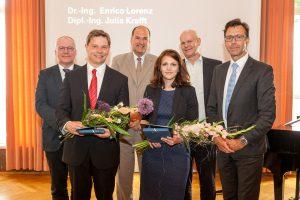 Die beiden Preisträger des Kurt-Beyer-Preis 2015, der heute verliehen wurde, im Kreis der Laudatoren. Foto: Ulrich van Stipriaan