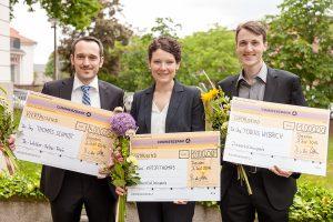 Die Preisträger der Commerzbank-Preise. Foto: Ulrich van Stipriaan
