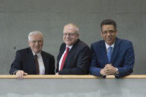 Nominiert: Die Professoren Peter Offermann, Manfred Curbach und Chokri Cherif (v.l.n.r. – Foto: Ansgar Pudenz)