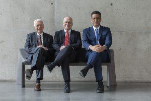 Siegerteam: Prof. Peter Offermann, Prof. Manfred Curbach, Prof. Chokri Cherif. Bild: Ansgar Pudenz