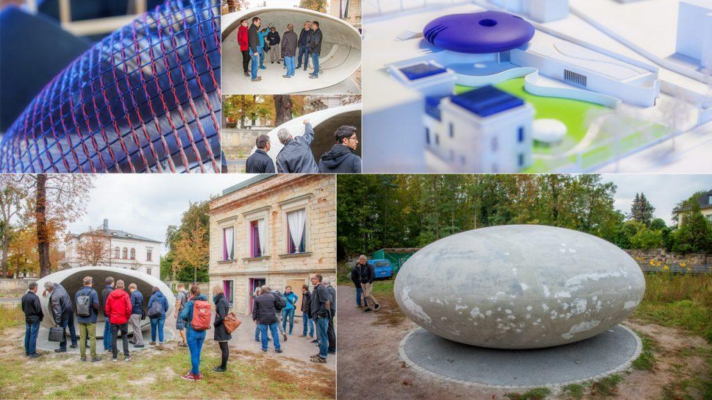 Team vom Institut für Massivbau der TU Dresden zu Besuch bei Architekt Gerd Priebe